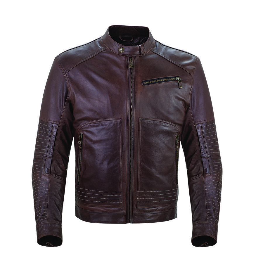 Men's Leather Phoenix Jacket, Brown