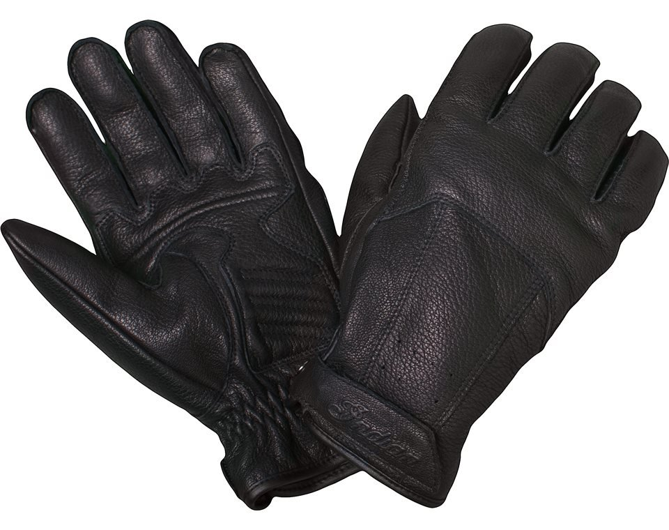 Men's Leather Classic Riding Gloves, Black