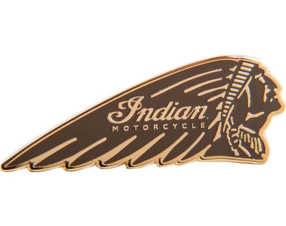 Headress Pin Badge, Tan