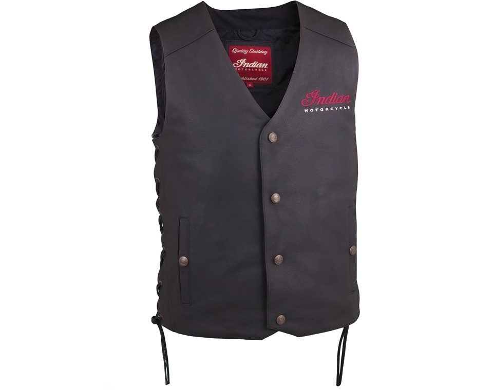 Men's Classic Leather Vest, Black