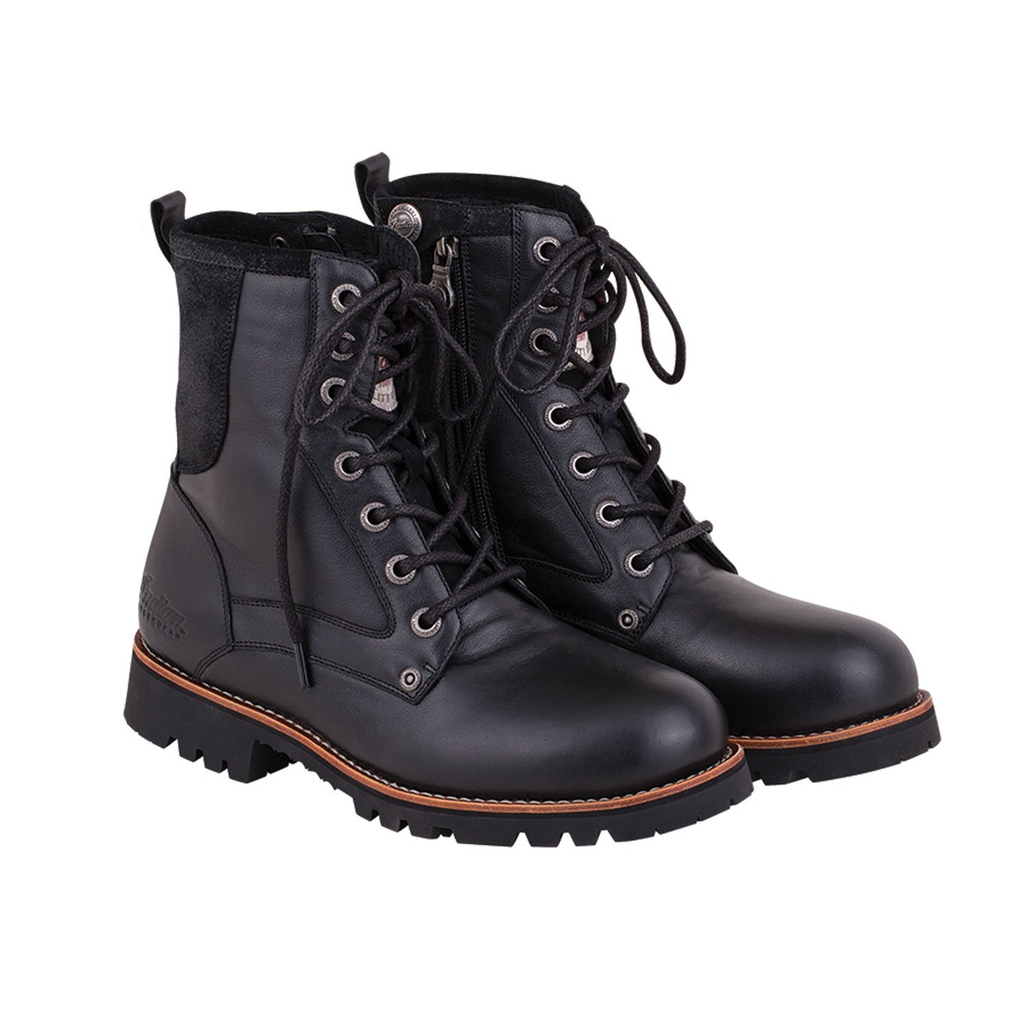 Men's Leather Classic Lace-Up Riding Boot, Black