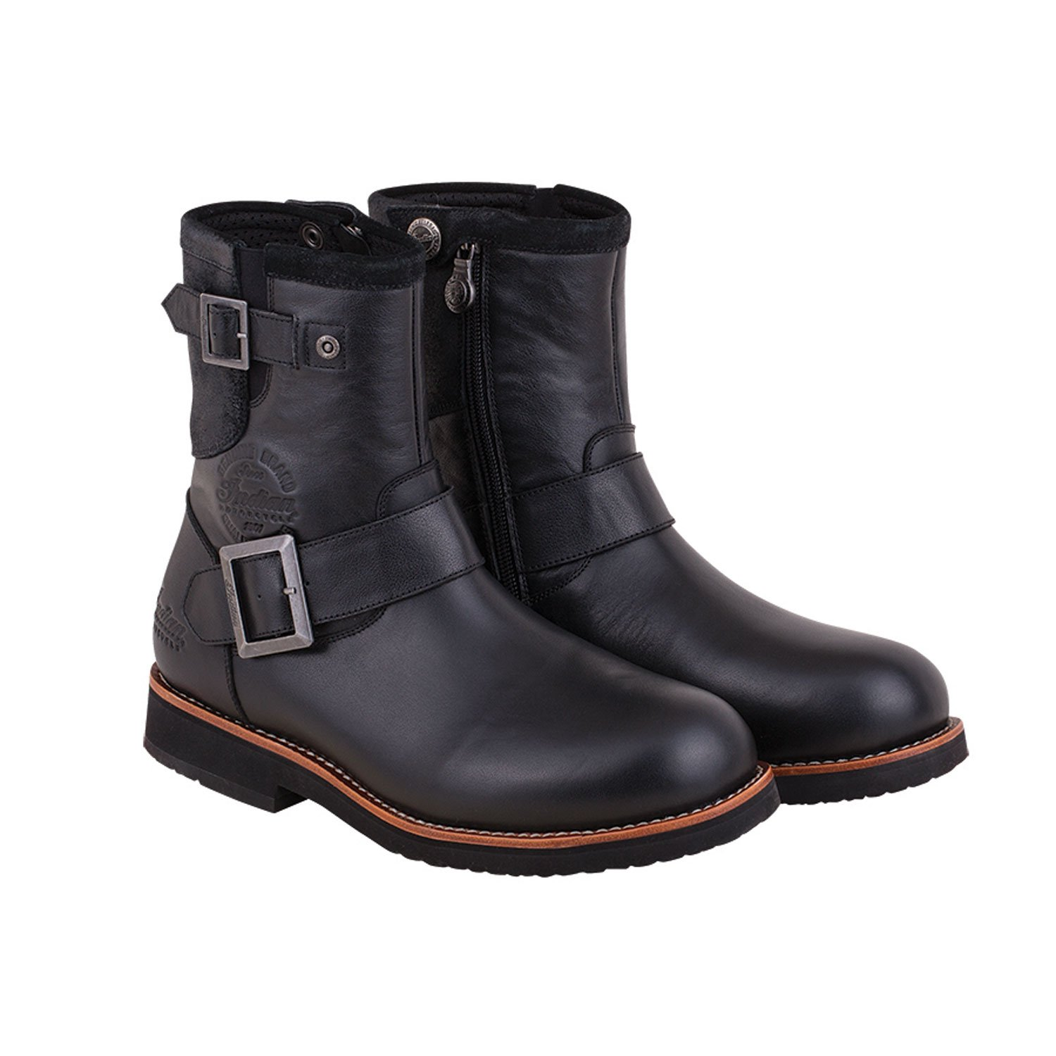 Men's Leather Engineer Riding Boot, Black