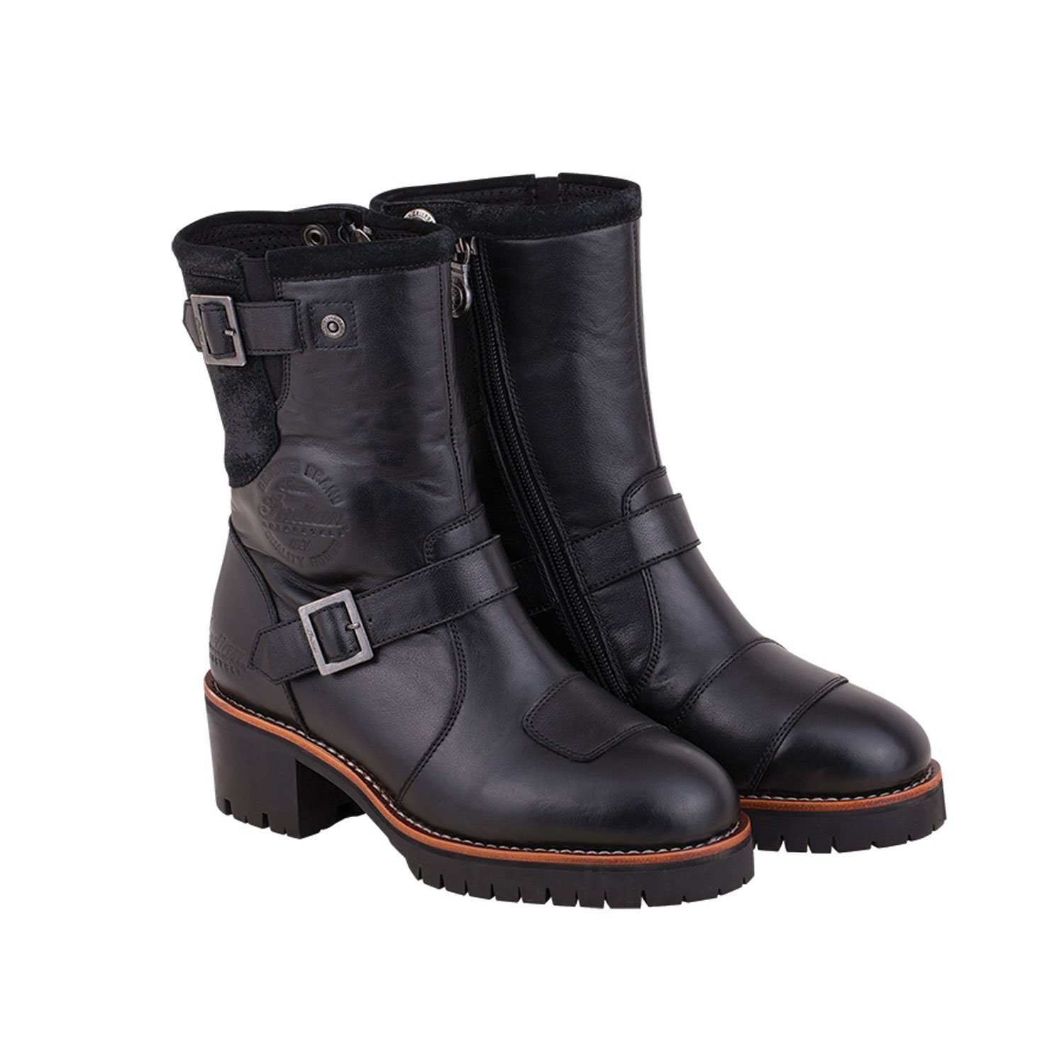 Women's Leather Engineer Riding Boot, Black