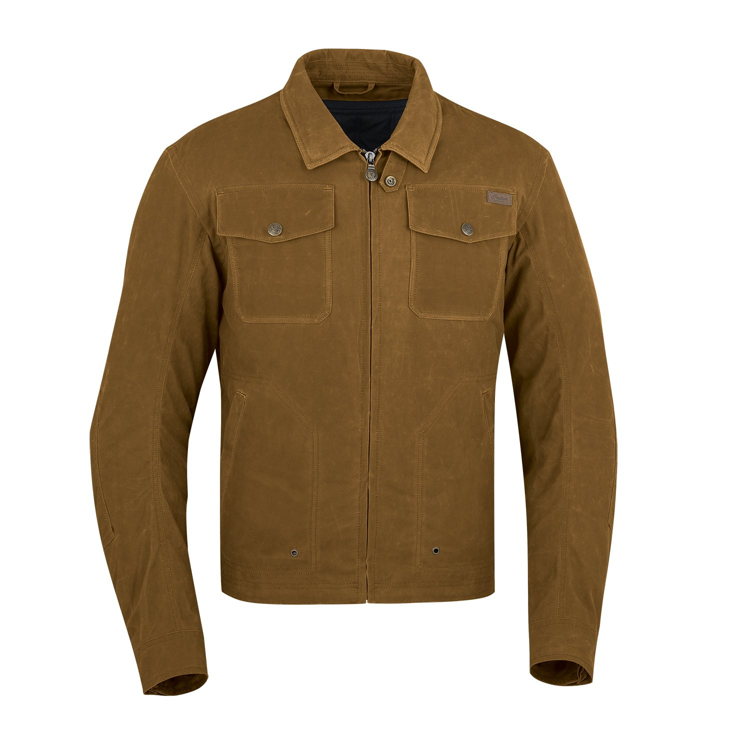 Men's Waxed Cotton Shift Riding Jacket with Removable Lining, Tan
