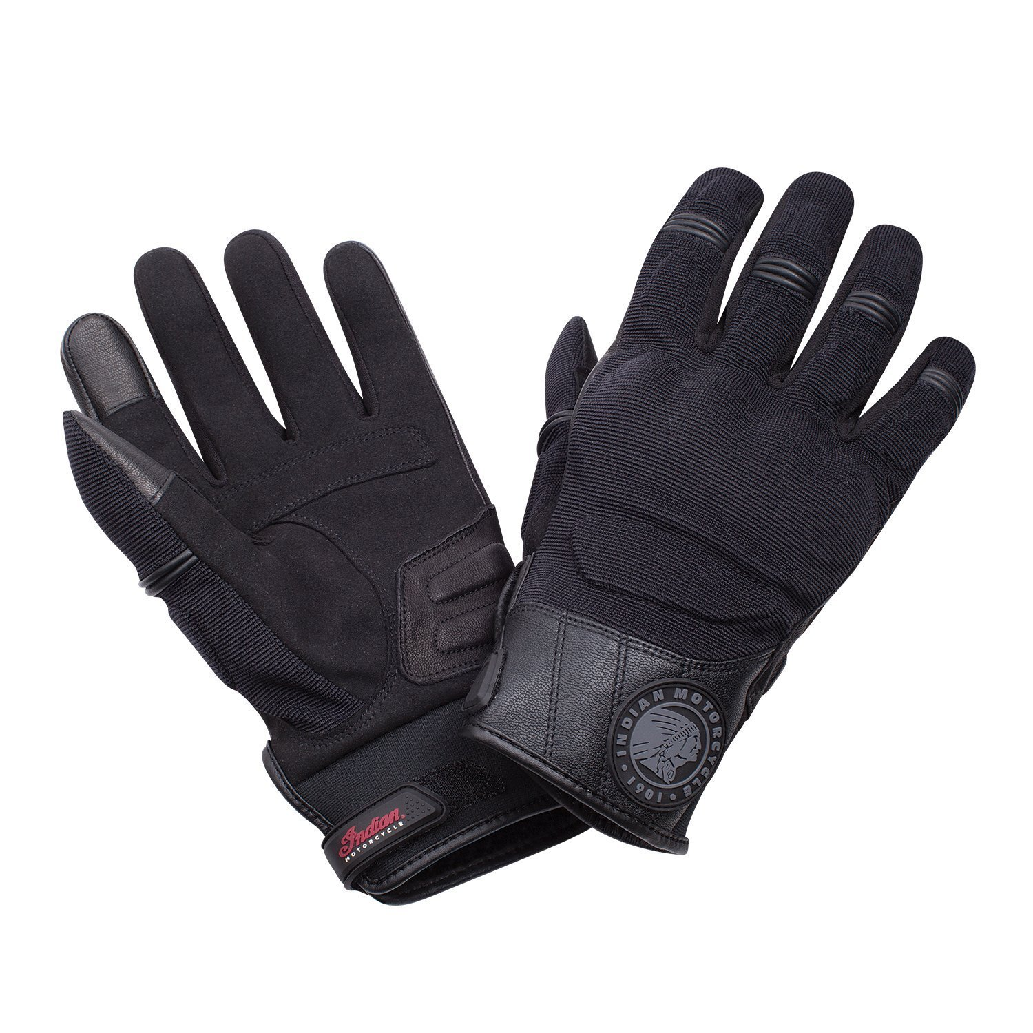 Men's Passage Riding Gloves with Hard Knuckles, Black