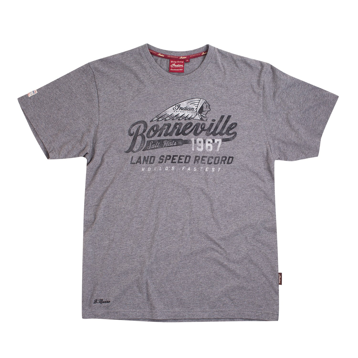 Men's Bonneville Salt Flat Munro T-Shirt, Gray Marl