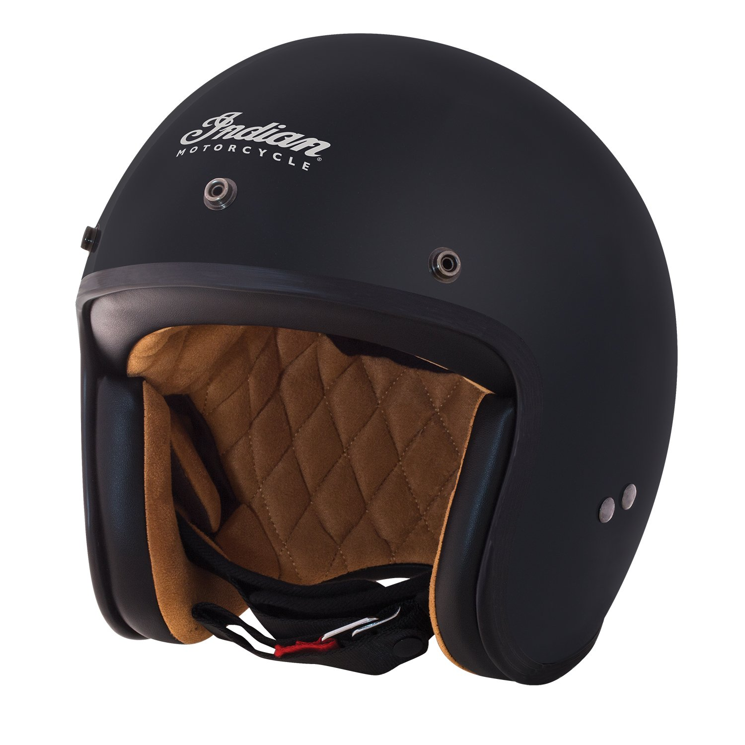 Open Face Retro Helmet, Matte Black