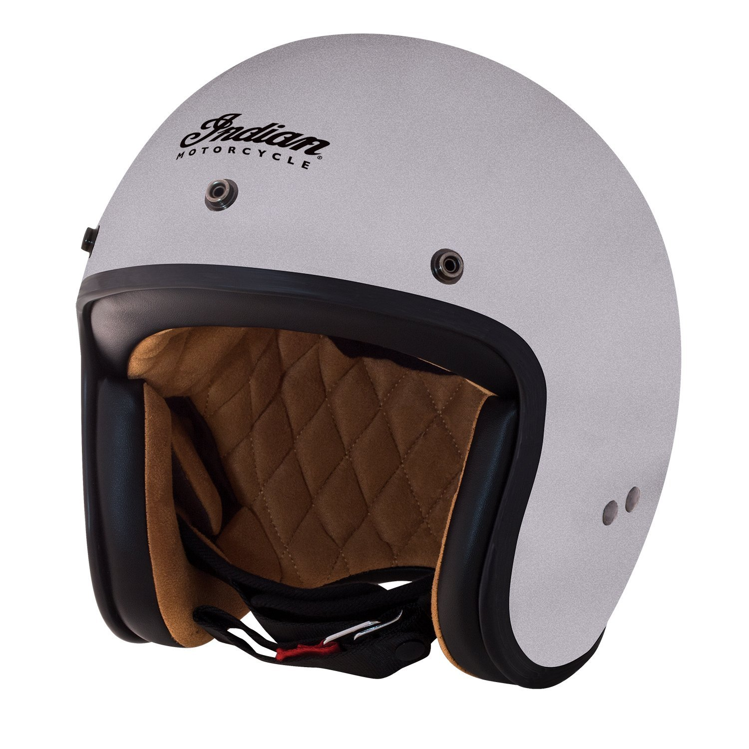 Open Face Retro Helmet, Silver