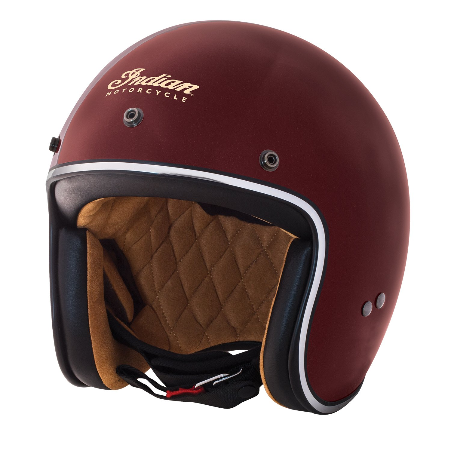 Open Face Retro Helmet, Red