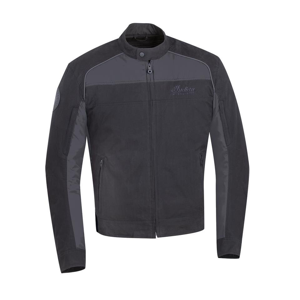 Men's Textile Flint Riding Jacket with Removable Lining, Black