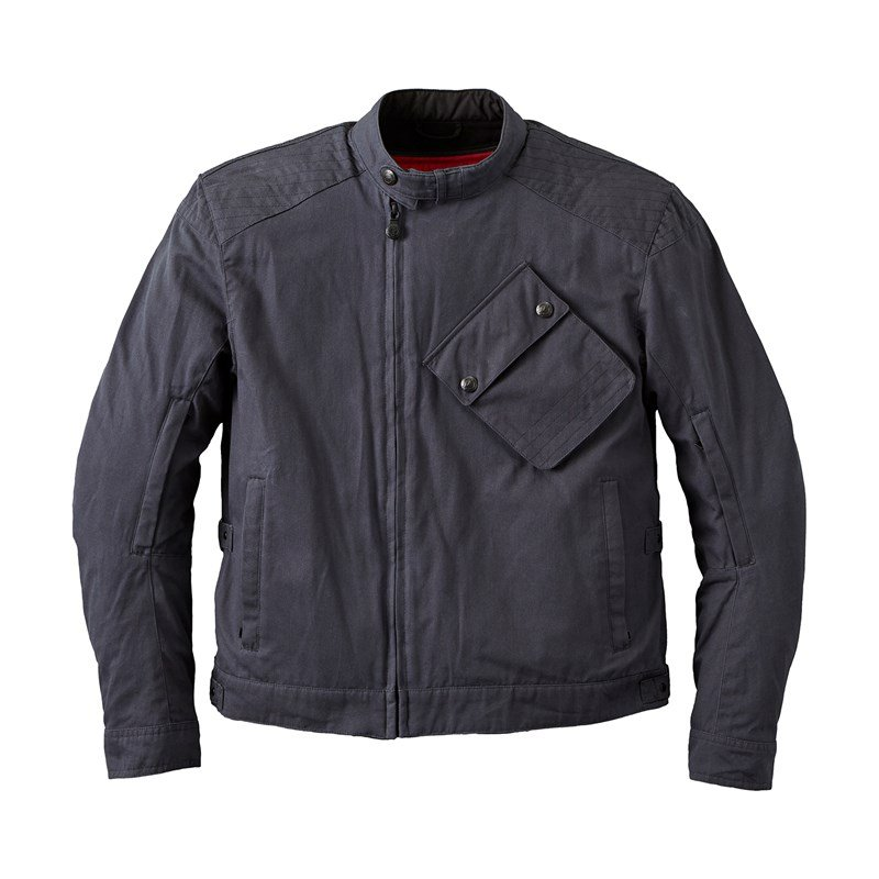 Men's Waxed Cotton Sacramento Riding Jacket with Removable Lining, Black