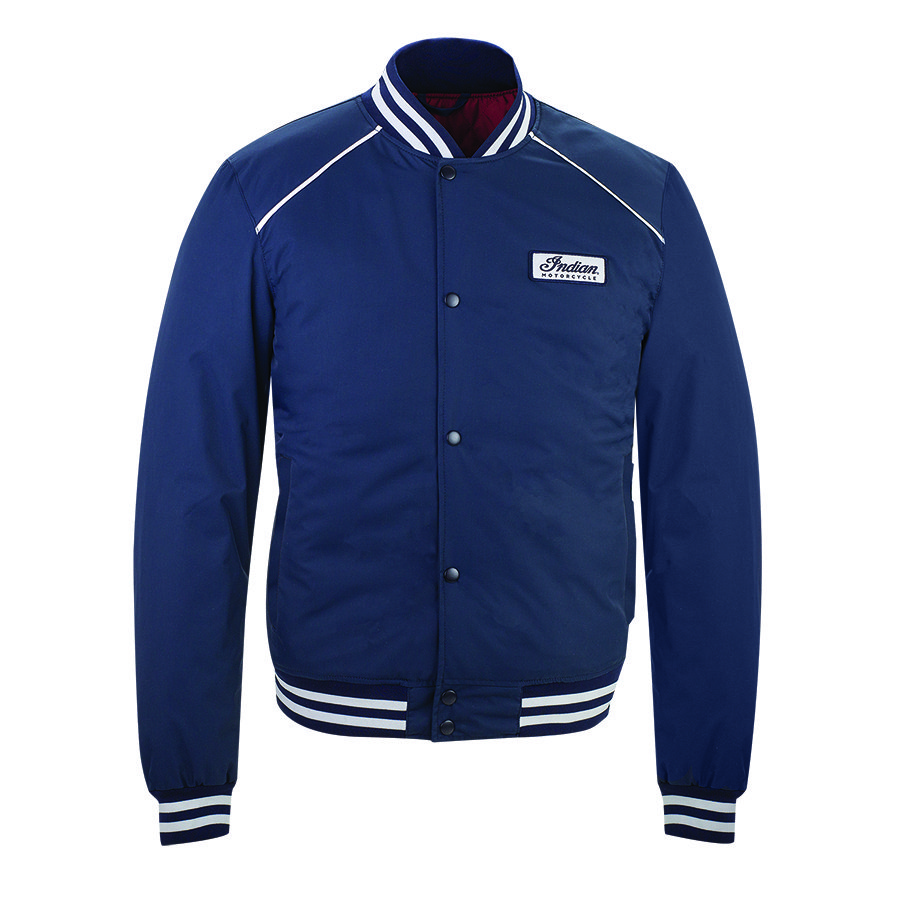 Men's Casual Retro Bomber Jacket, Navy