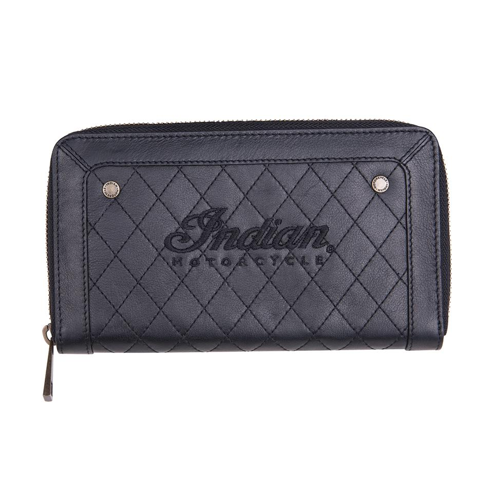 Women's Quilted Leather Purse, Black