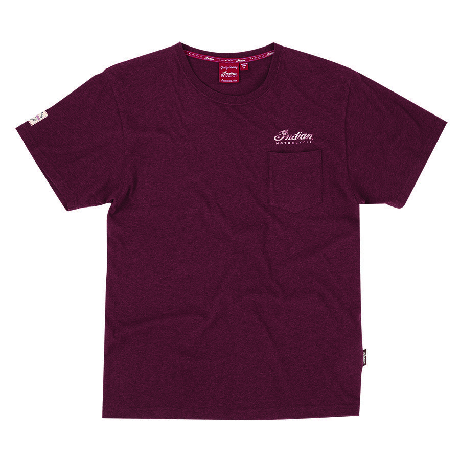 Men's Pocket T-Shirt with Heritage Logo, Port
