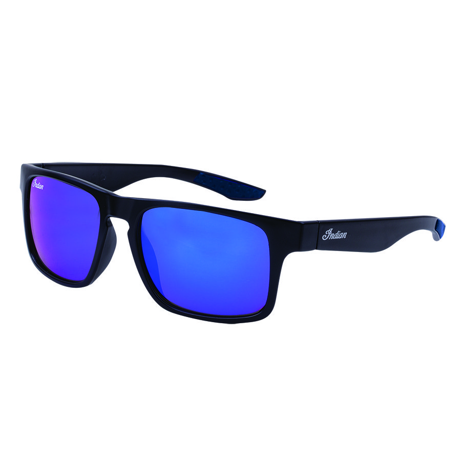 Casual Atlanta Sunglasses with Blue Revo Lens, Black