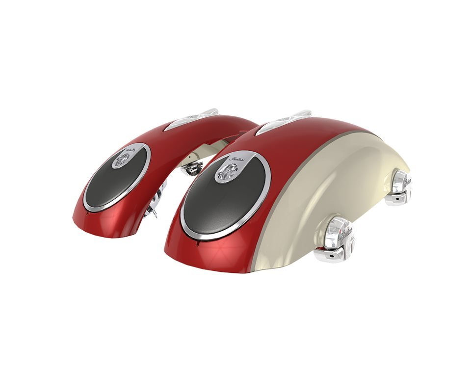 Concert Audio Lids – Indian Motorcycle® Red over Ivory Cream