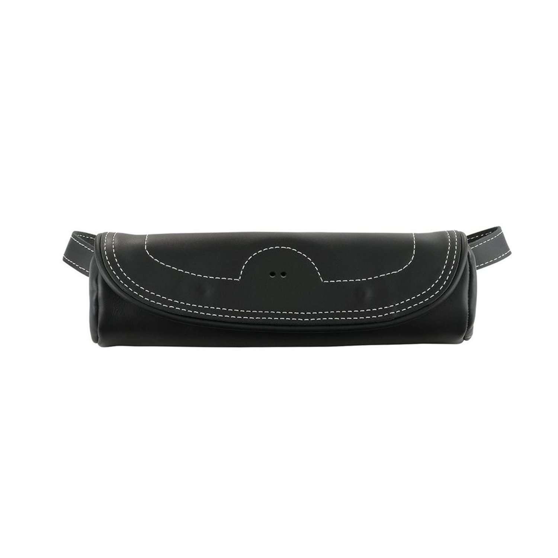 Genuine Leather Fork Bag – Black
