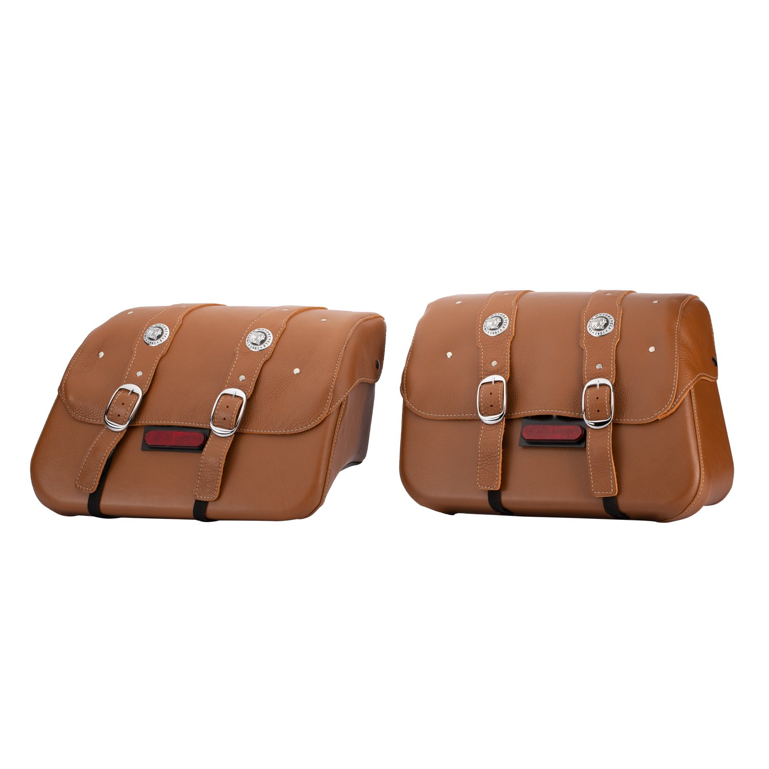 Genuine Leather Saddlebags – Desert Tan