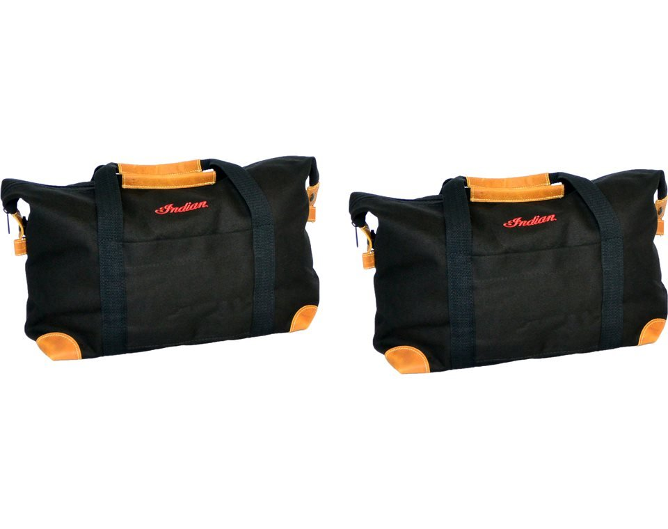 Deluxe Saddlebag Travel Bags – Black
