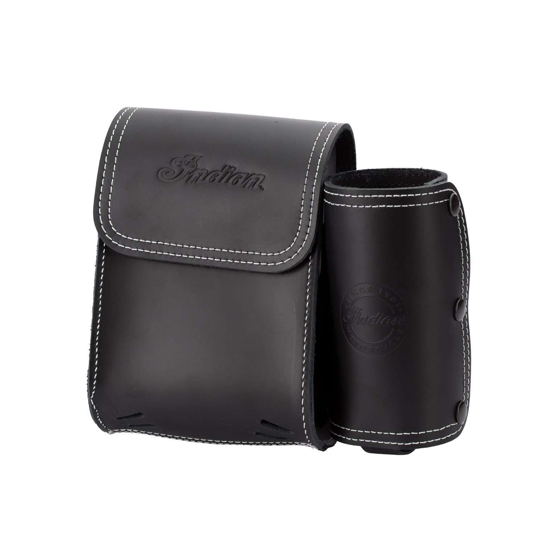 Genuine Leather Rear Highway Bar Bag – Black