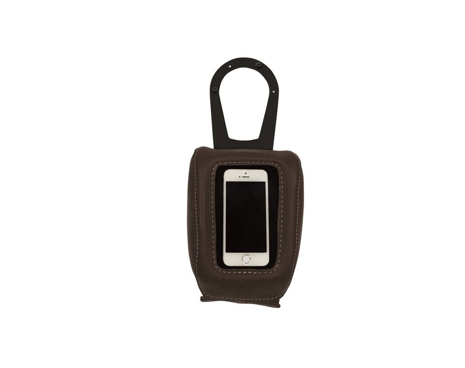 Genuine Leather Tank Pouch – Black