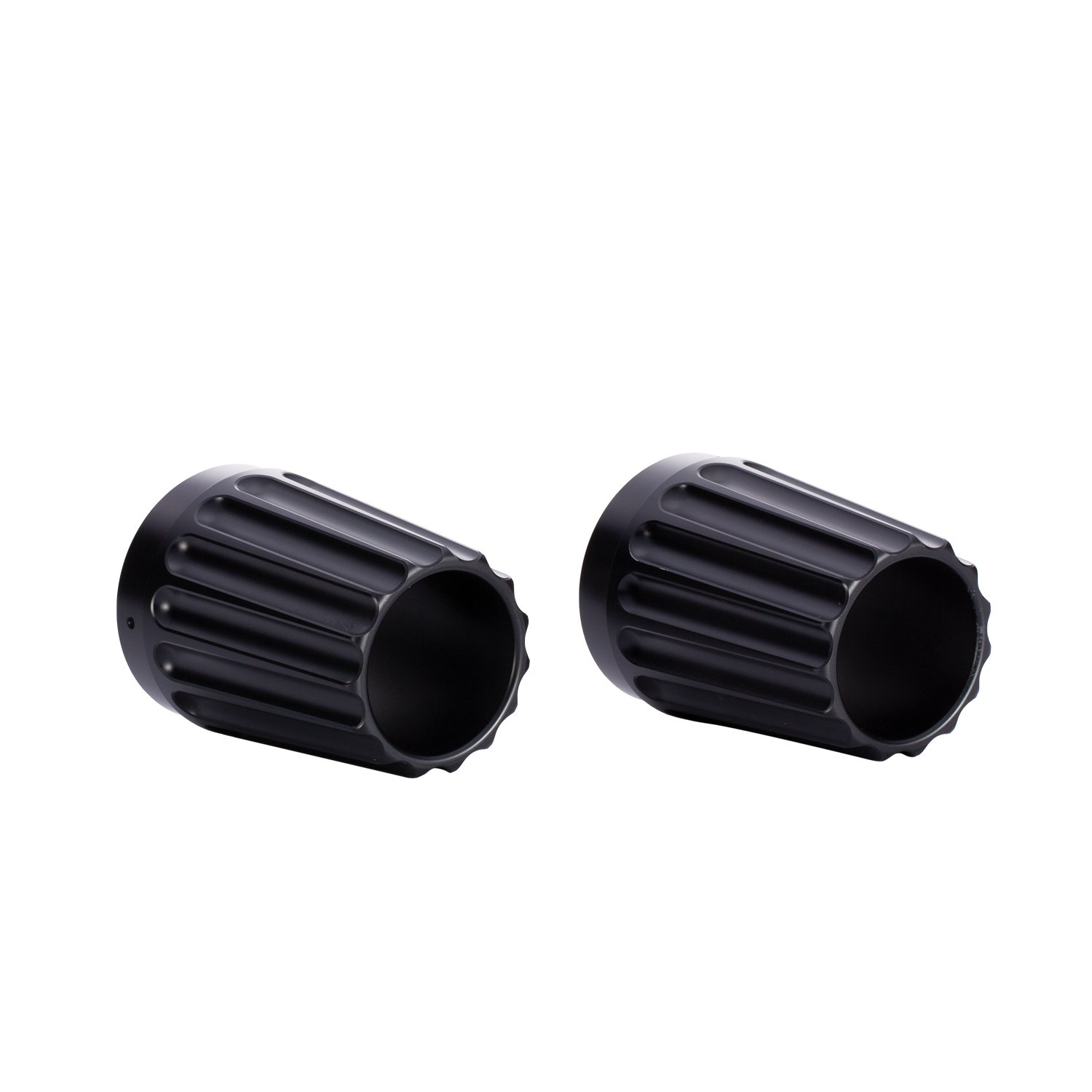 Grooved Exhaust Tips – Matte Black