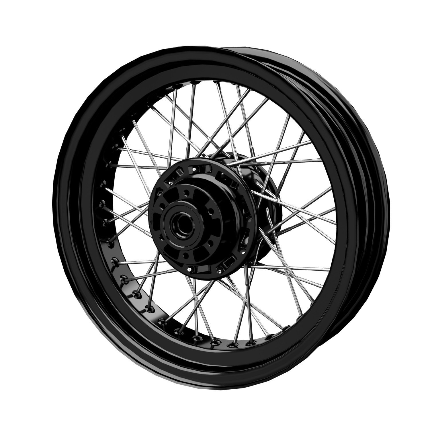 Rear Laced Wheel – Gloss Black