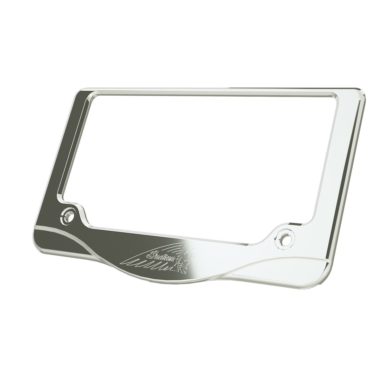 Headdress License Plate Frame – Chrome