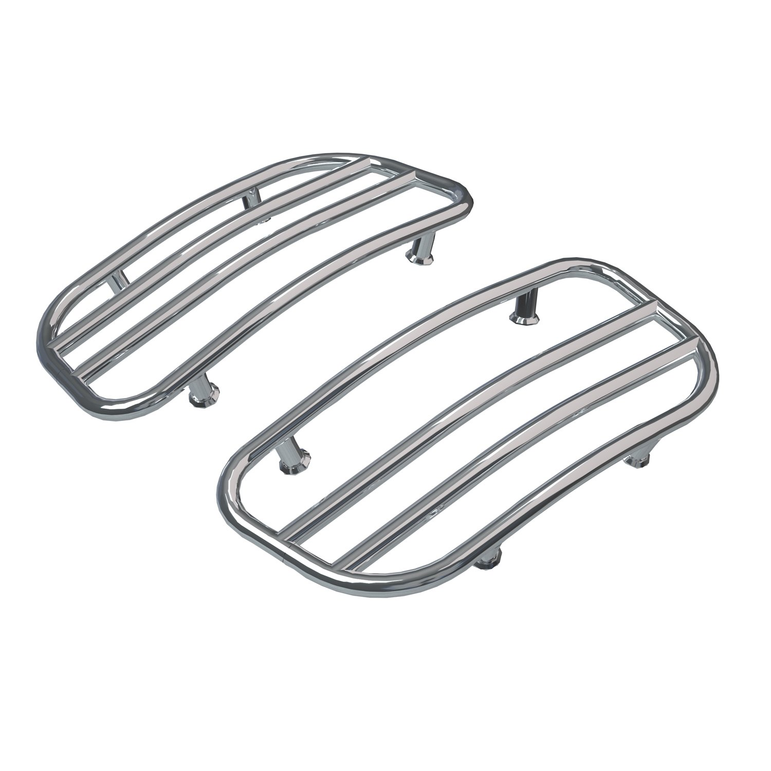 Saddlebag Lid Racks – Chrome