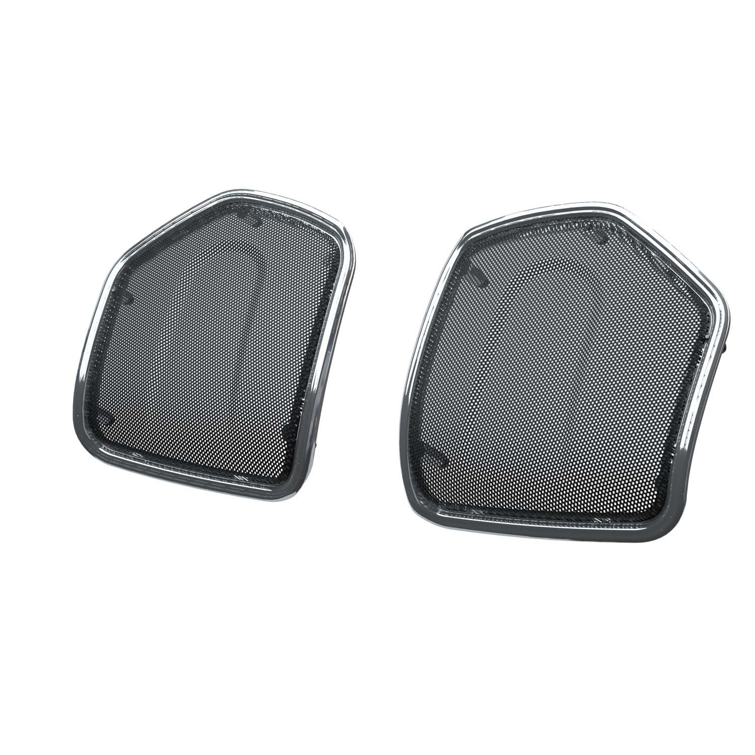 PowerBand™ Audio Saddlebag Speaker Bezels – Chrome