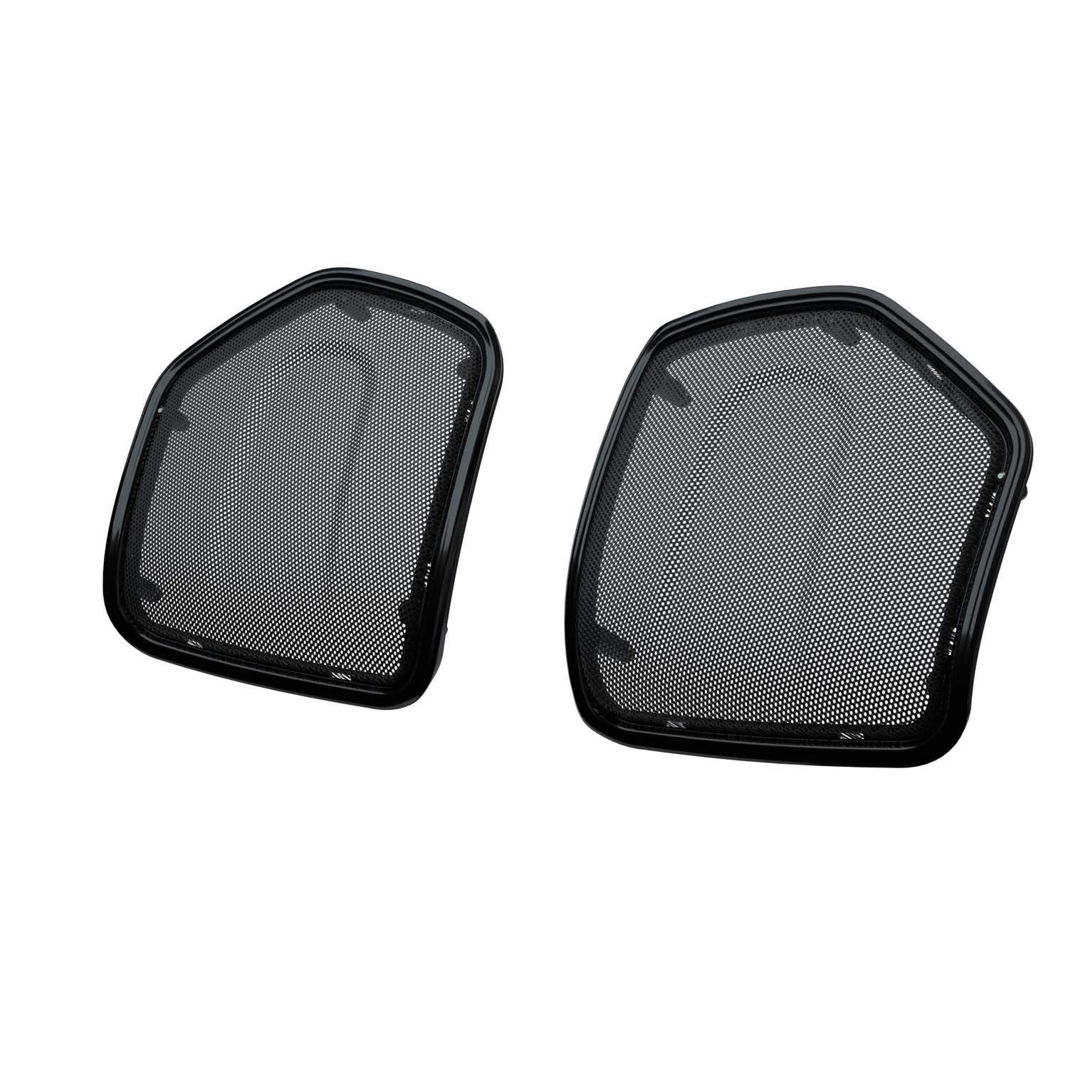 PowerBand™ Audio Saddlebag Speaker Bezels – Thunder Black