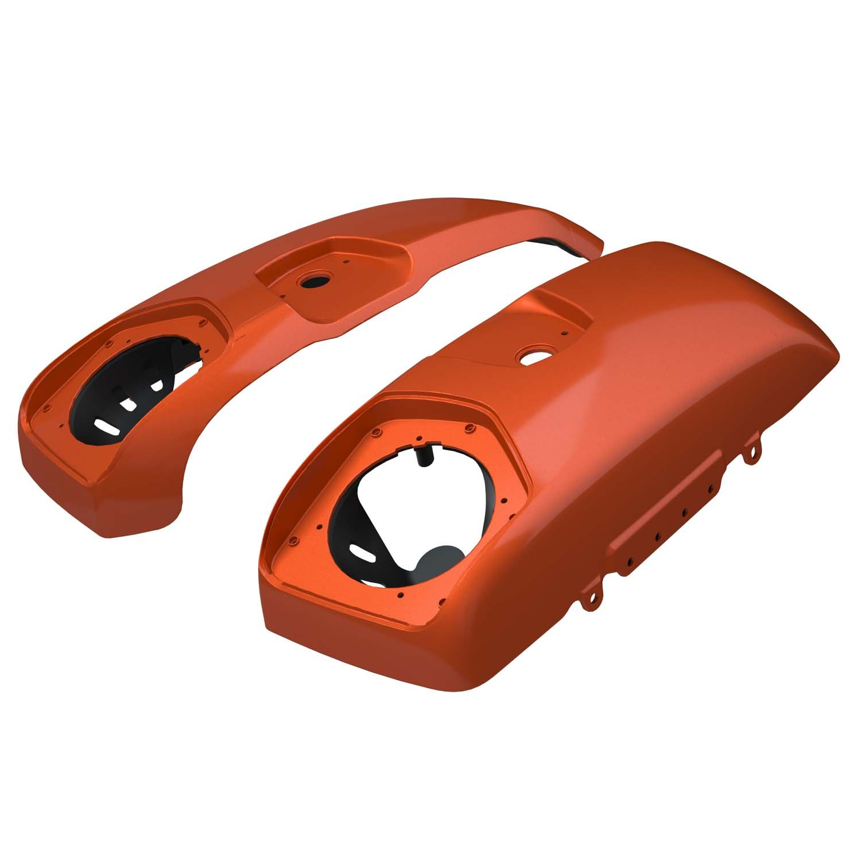 PowerBand™ Audio Saddlebag Speaker Lids – Burnt Orange