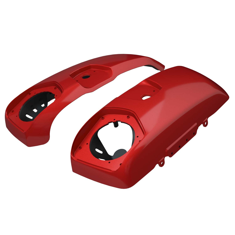 PowerBand™ Audio Saddlebag Speaker Lids – Ruby Metallic