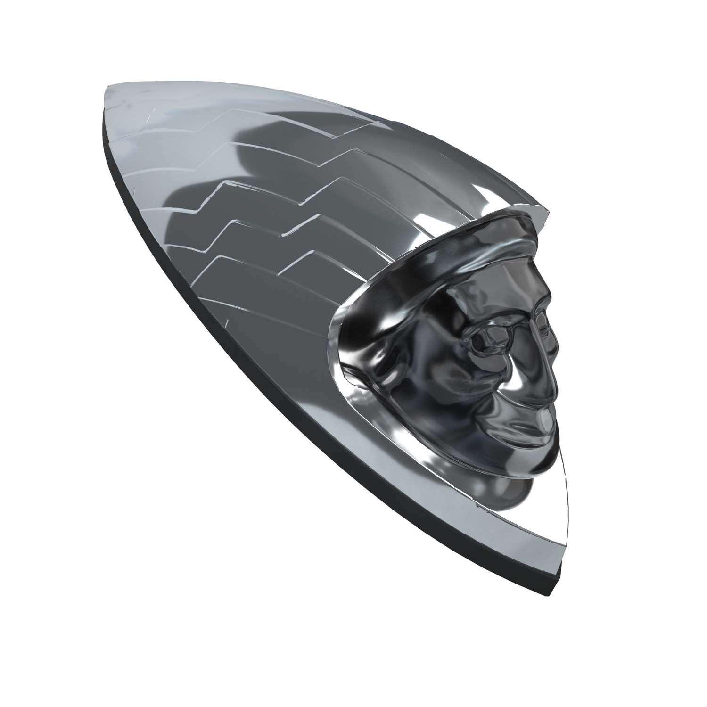 Headdress Fender Emblem – Chrome