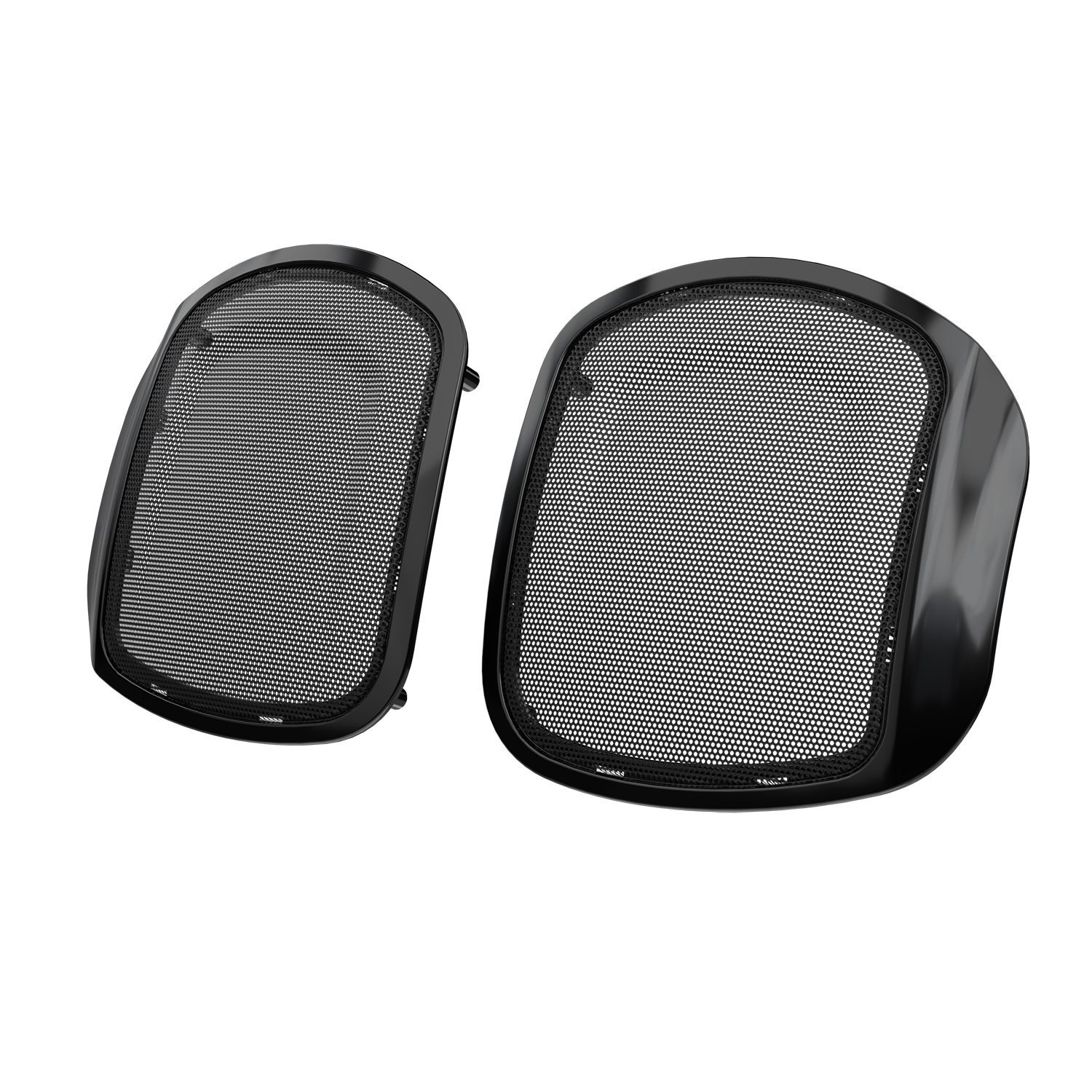 PowerBand™ Audio Classic Saddlebag Speaker Bezels – Thunder Black