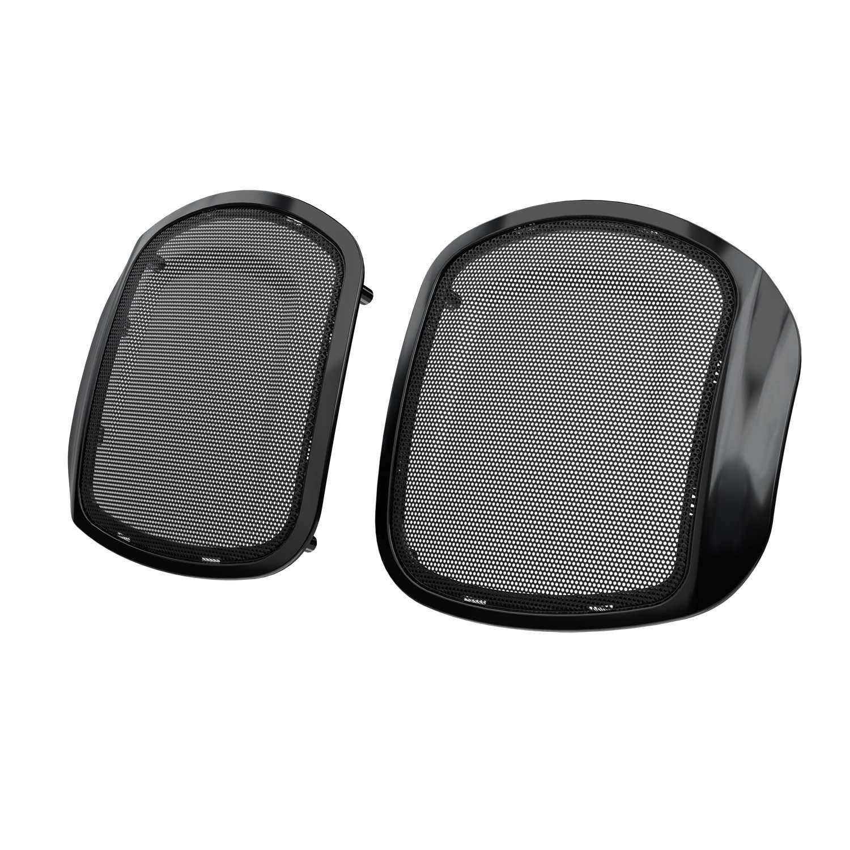PowerBand™ Audio Classic Saddlebag Speaker Bezels – Thunder Black