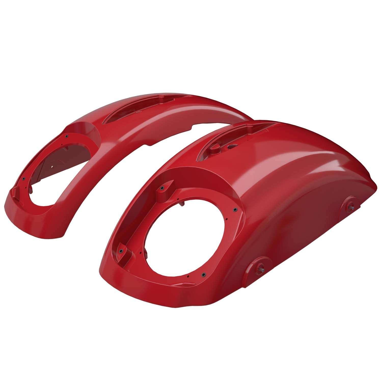 PowerBand™ Audio Classic Saddlebag Speaker Lids – Patriot Red Pearl