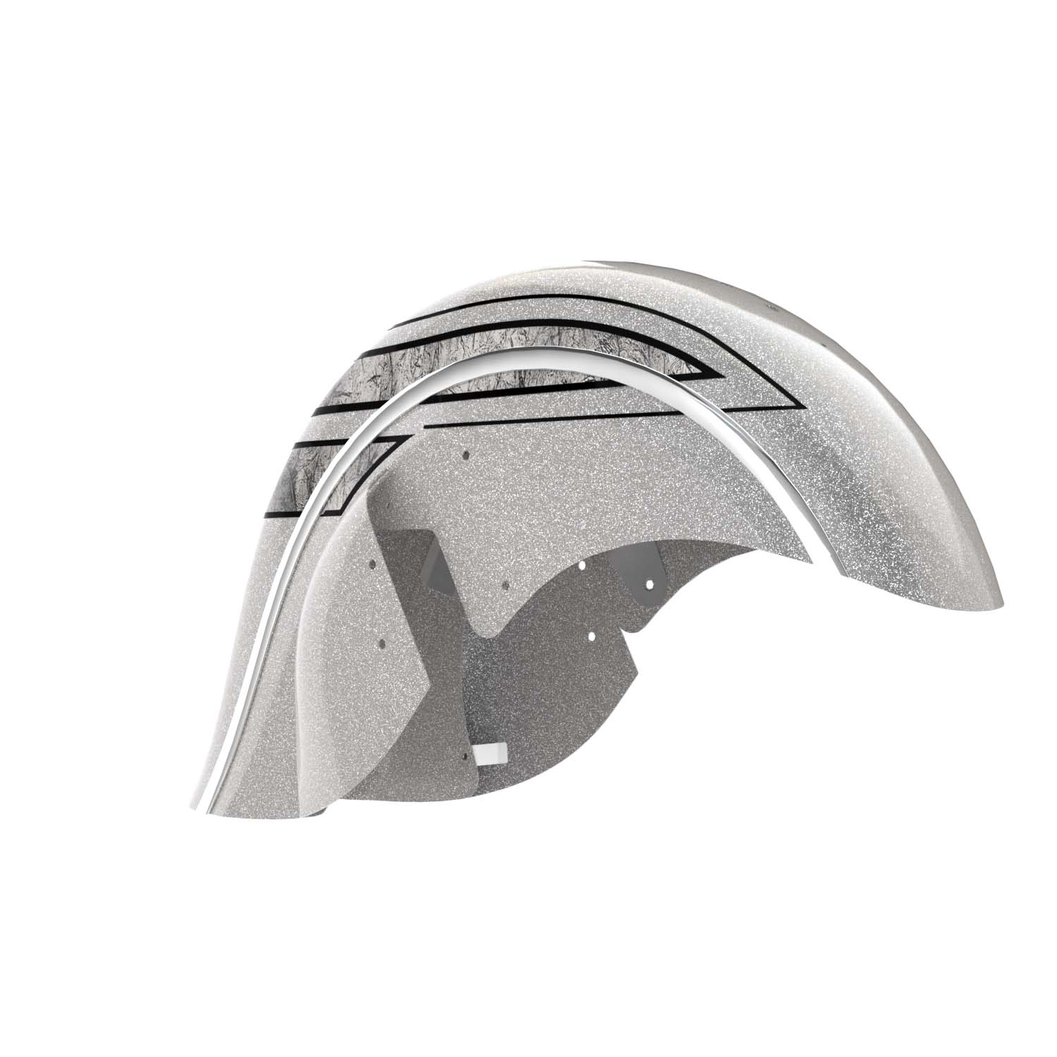 Valance Front Fender – Black Hills Silver with Marble Accents