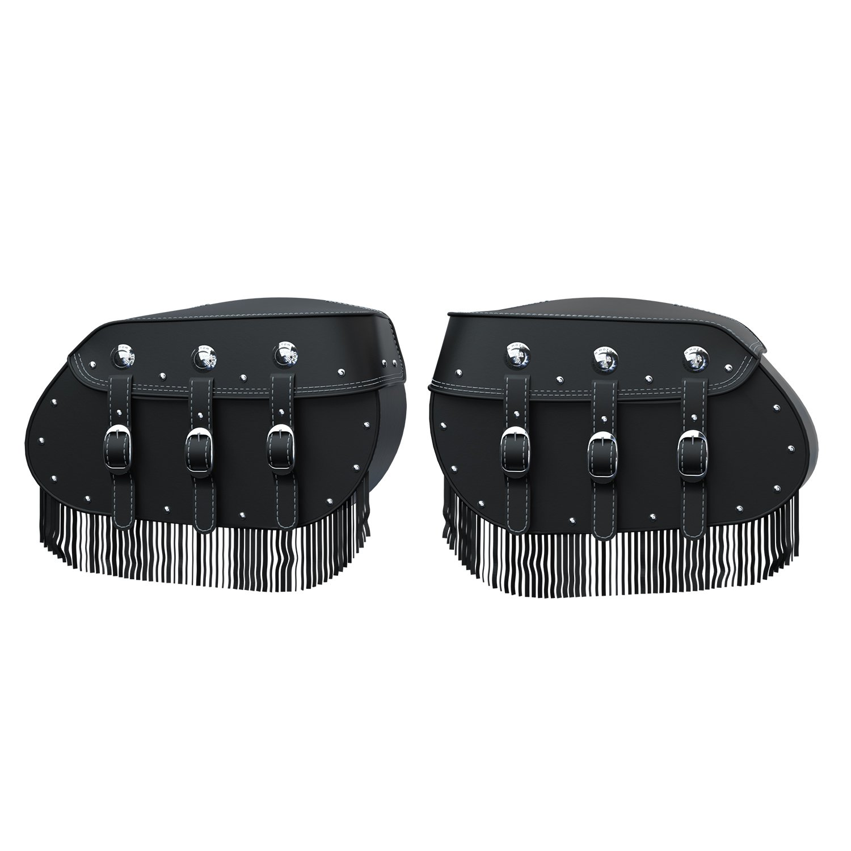 Genuine Leather Saddlebags – Black