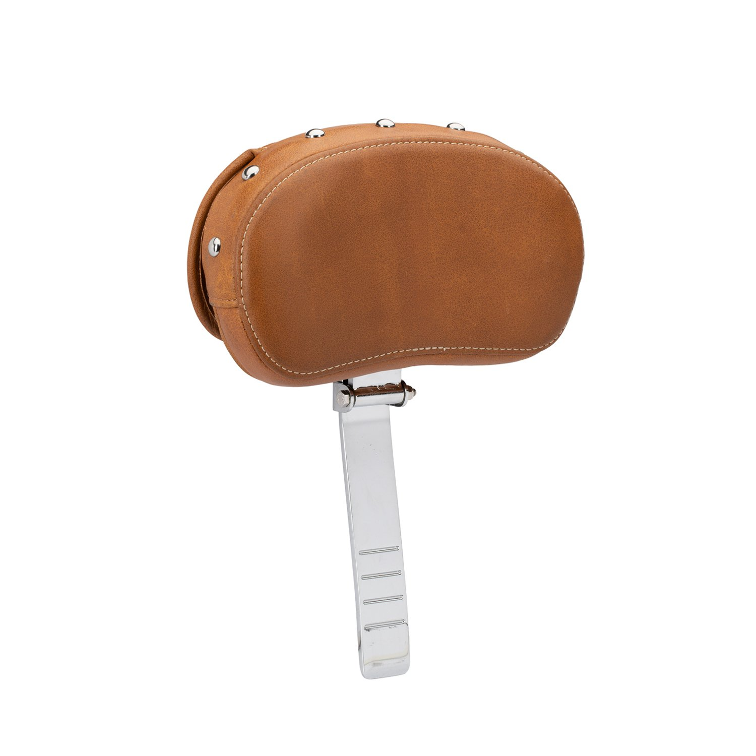 Genuine Leather Rider Backrest Pad – Desert Tan w/ Studs
