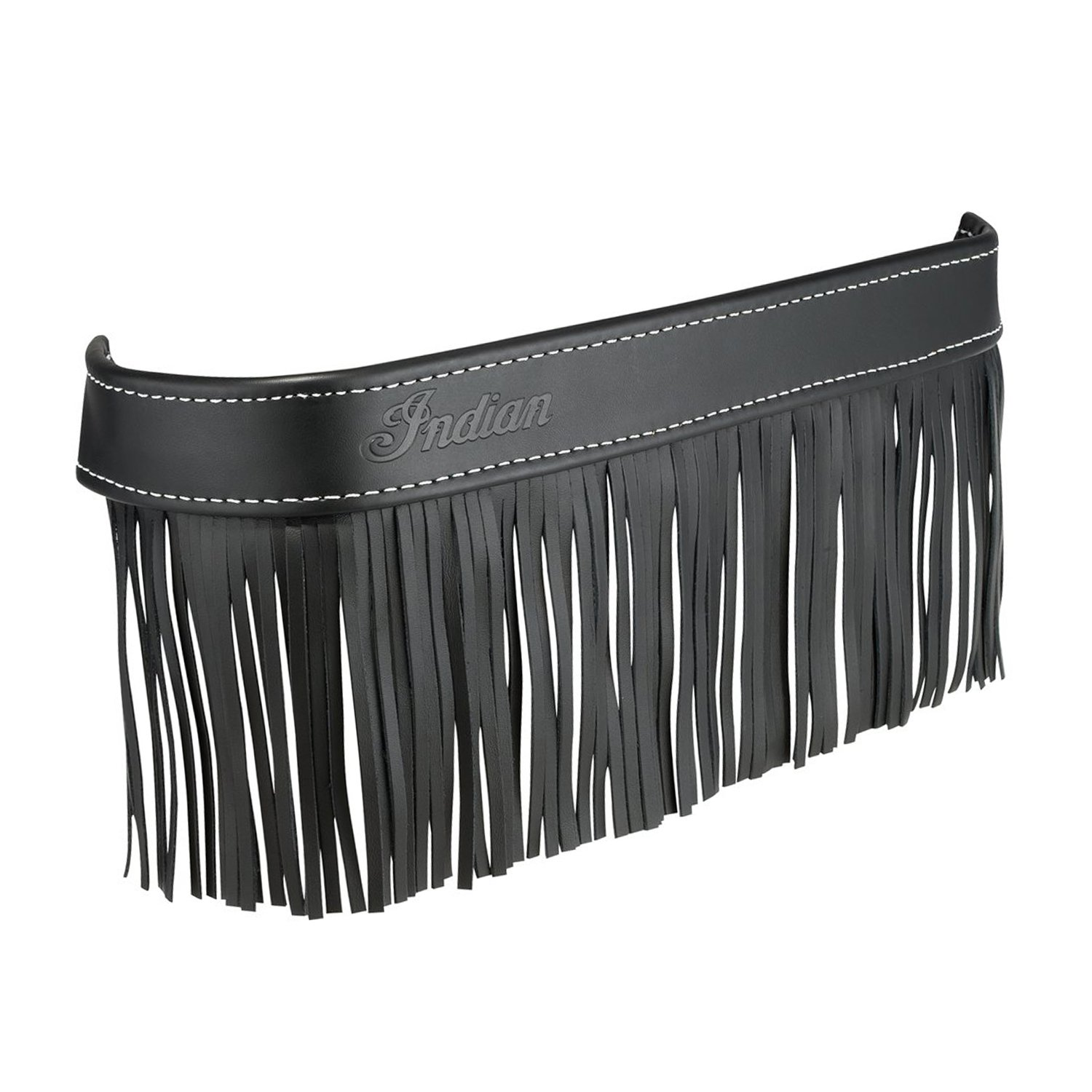 Genuine Leather Floorboard Trim With Fringe – Black