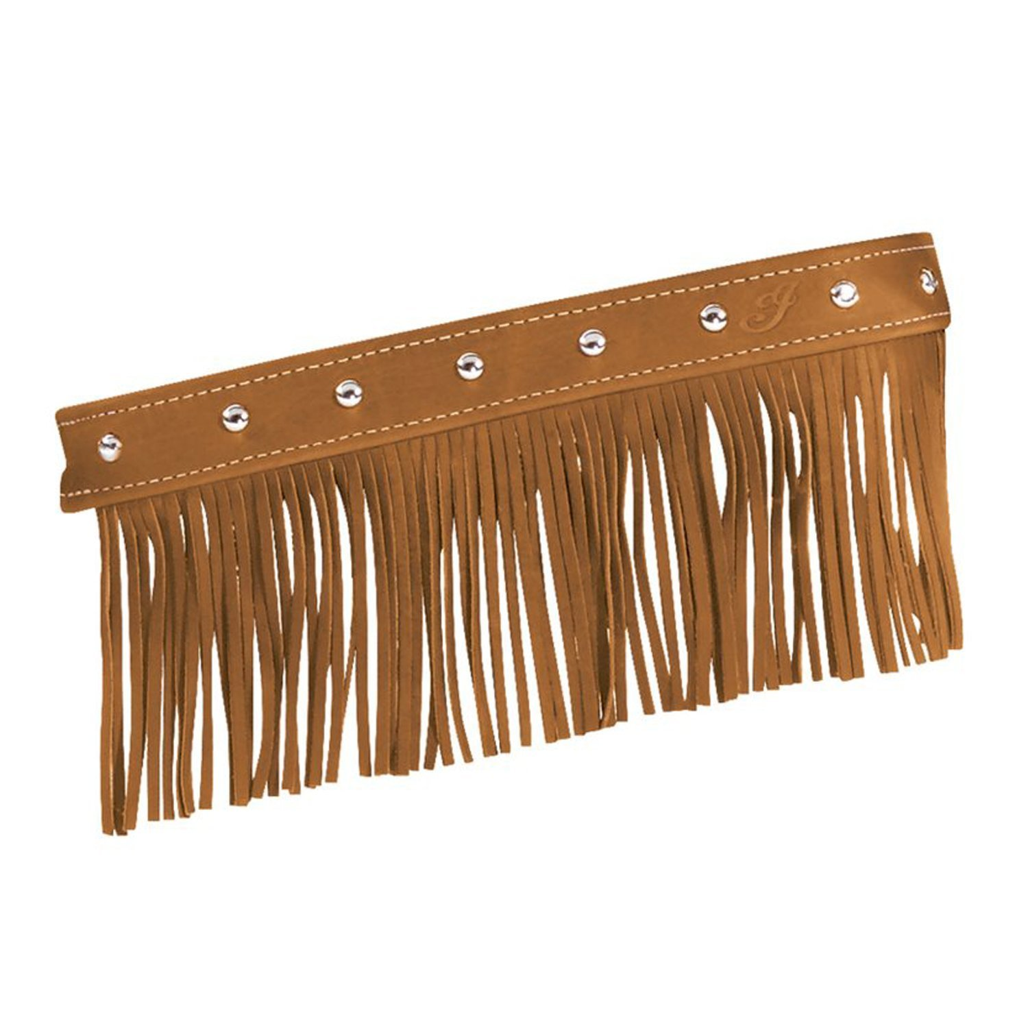 Genuine Leather Floorboard Trim With Fringe – Desert Tan w/ Studs