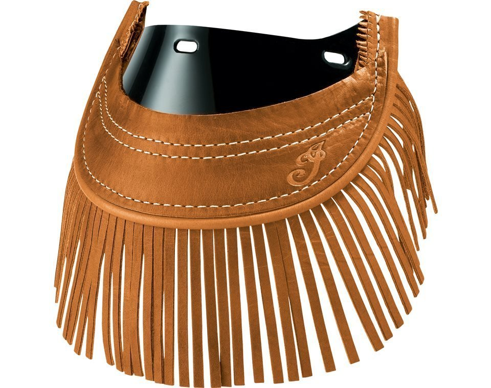 Genuine Leather Front Mud Flap With Fringe – Desert Tan