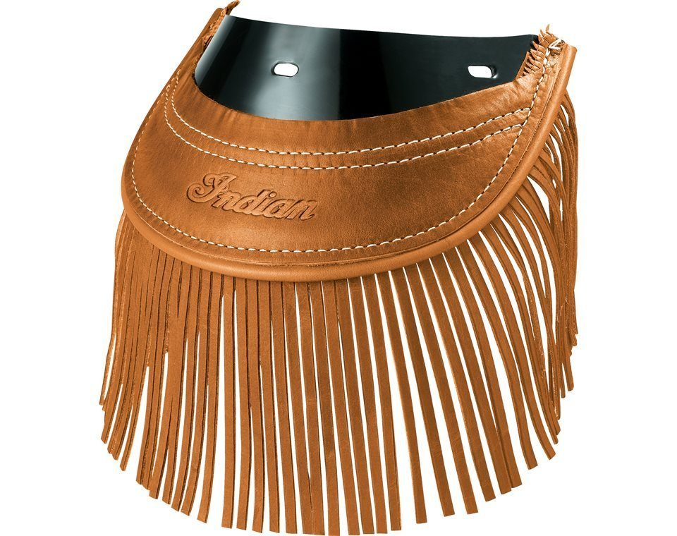 Genuine Leather Rear Mud Flap With Fringe – Desert Tan
