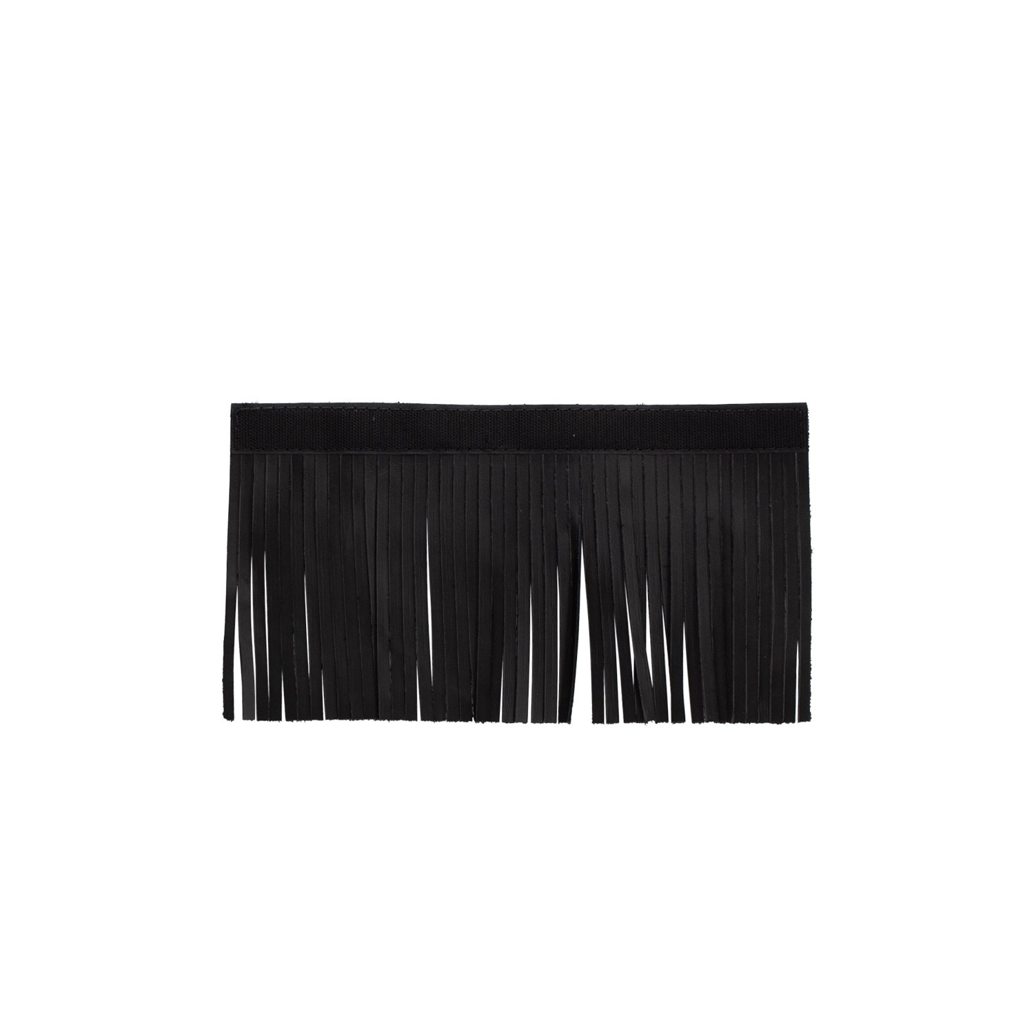 Genuine Leather Upper Saddlebag Fringe – Black