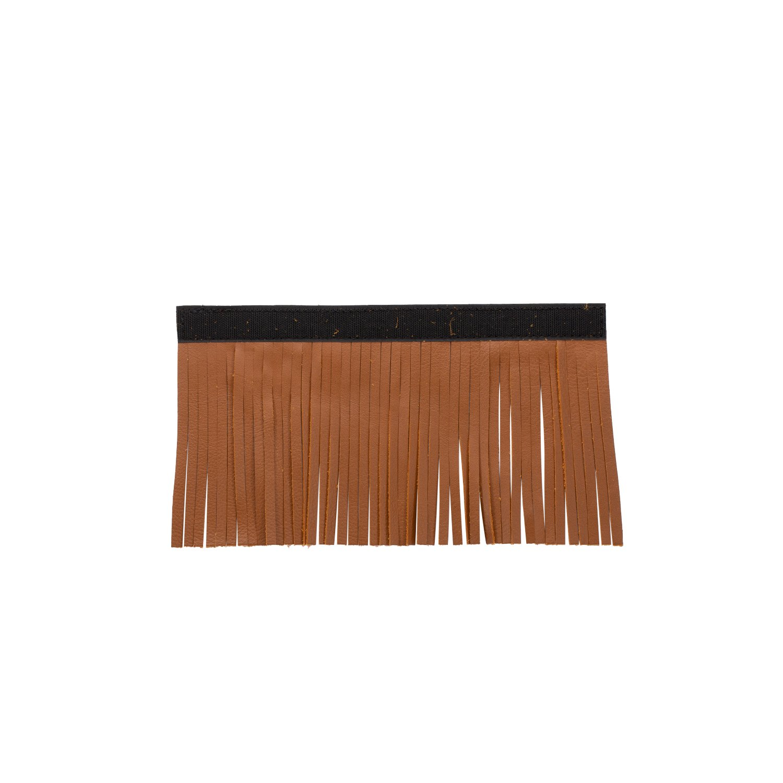 Genuine Leather Upper Saddlebag Fringe – Desert Tan