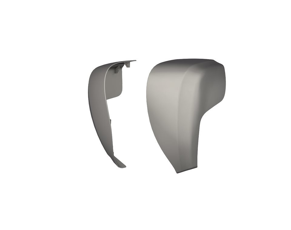 Hard Lower Fairings – Silver Smoke
