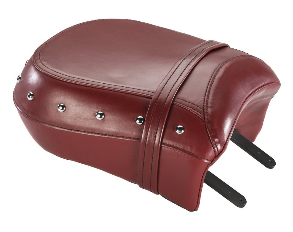 Genuine Leather Passenger Seat – Red w/ Studs