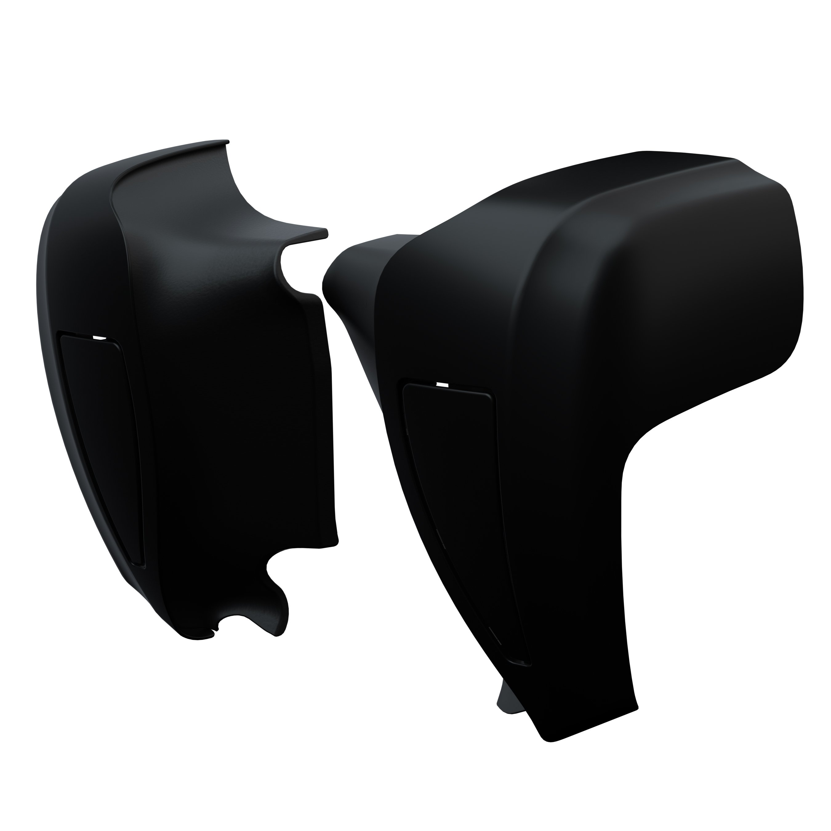Hard Lower Fairings – Thunder Black Smoke