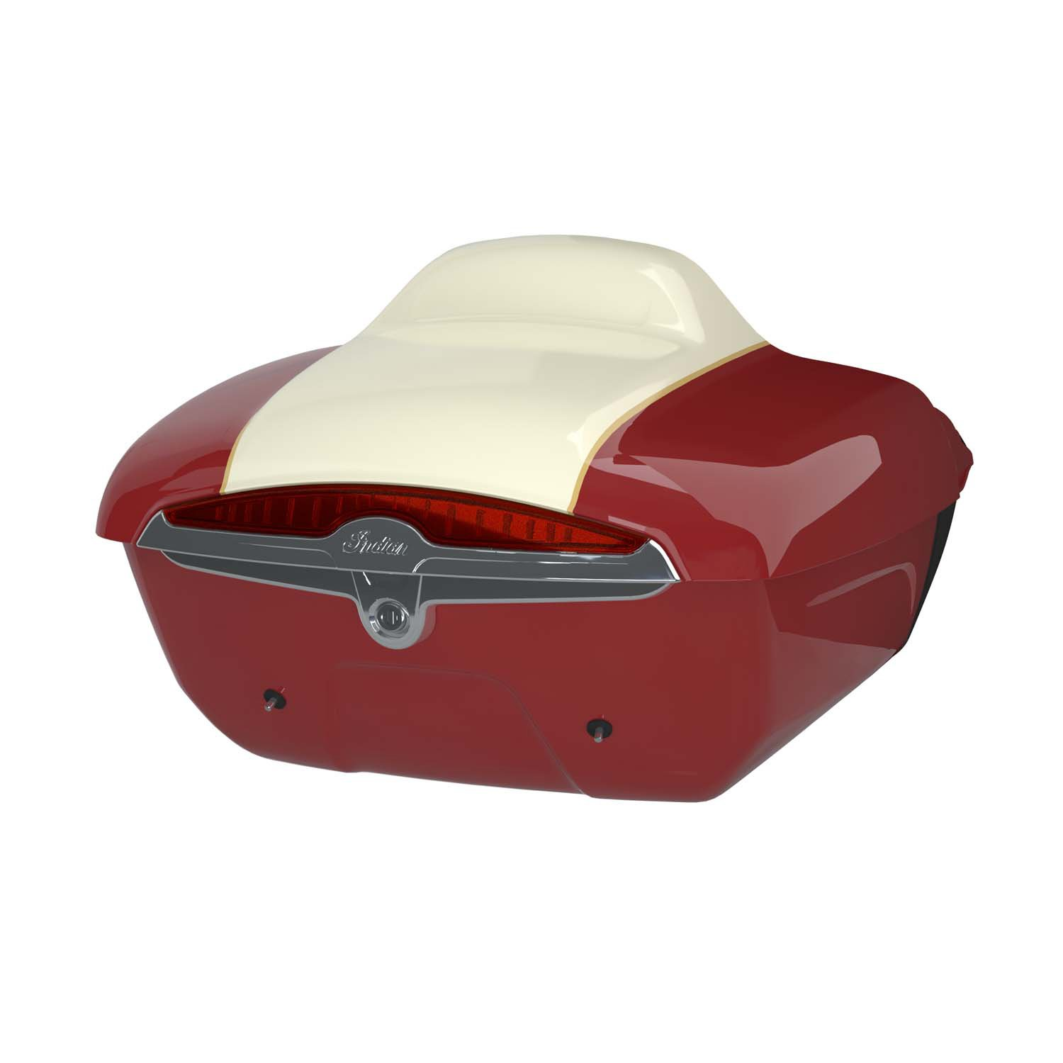 Quick Release Trunk – Indian Motorcycle Red over Ivory Cream
